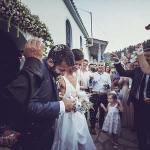 wedding photography from the ceremony St. Nikitas, Lefkada Island